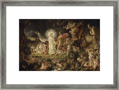 The Quarrel Of Oberon And Titania Framed Print