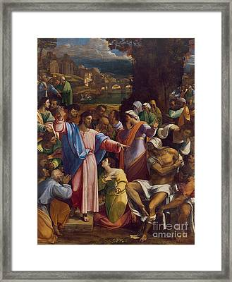 The Raising Of Lazarus Framed Print by Sebastiano del Piombo