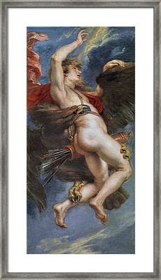The Rape Of Ganymede Framed Print