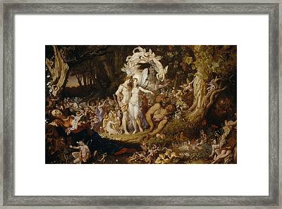 The Reconciliation Of Oberon And Titania Framed Print