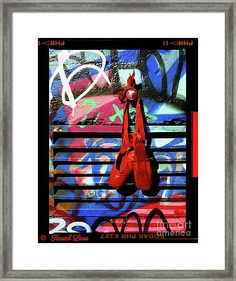 The Red Toe Shoes Original Framed Print by Terriel Lara