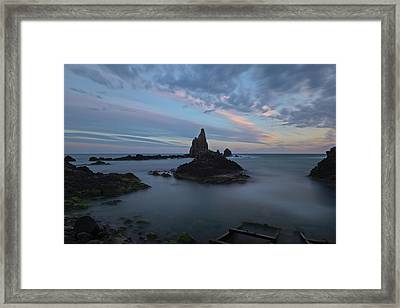 The Reef Of The Cape Sirens At Sunset Framed Print