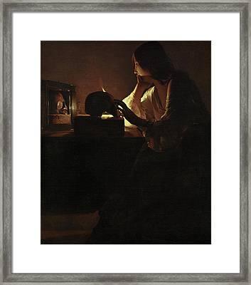 The Repentant Magdalen Framed Print