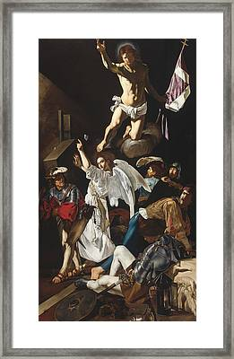 The Resurrection Framed Print by Cecco del Caravaggio