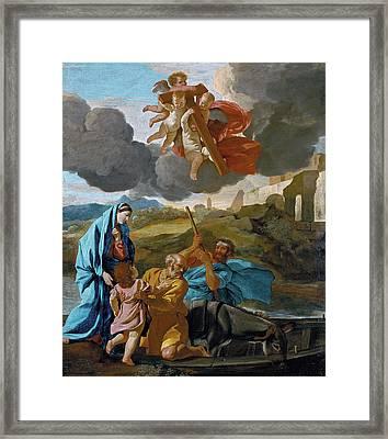 The Return Of The Holy Family From Egypt Framed Print