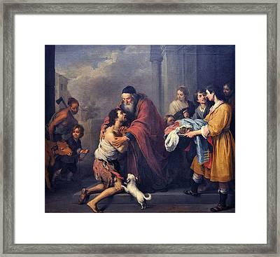 The Return Of The Prodigal Son Framed Print by Esteban Murillo
