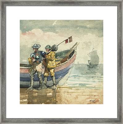The Return, Tynemouth Framed Print by Winslow Homer