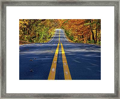 The Road Framed Print by Phil Koch