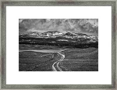 The Road That Leads You Home Framed Print by Peter Tellone
