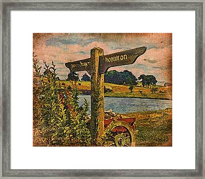 Framed Print featuring the digital art The Road To Hobbiton by Kathy Kelly