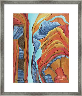 Framed Print featuring the painting The Rocks Cried Out, Zion by Erin Fickert-Rowland