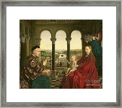 The Rolin Madonna Framed Print by Jan van Eyck