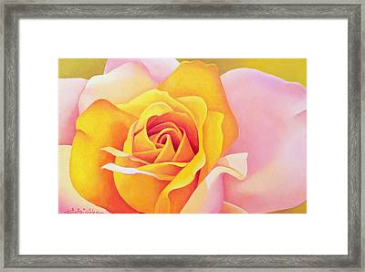The Rose Framed Print by Myung-Bo Sim