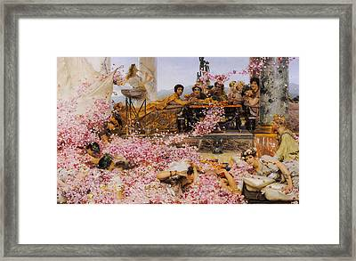 The Roses Of Heliogabalus Framed Print by Lawrence Alma-Tadema