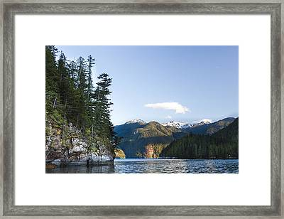 The Rugged, Rocky Forested Shoreline Framed Print by Taylor S. Kennedy