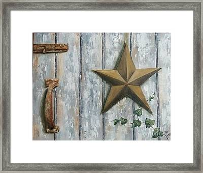 The Rusty Latch Framed Print
