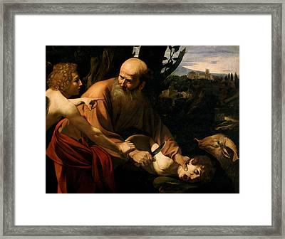 The Sacrifice Of Isaac Framed Print by Caravaggio