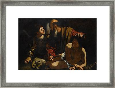 The Sacrifice Of Isaac Framed Print by MotionAge Designs