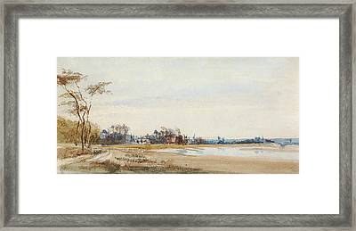 The Salt Marshes Near Trouville Framed Print by Richard Parkes Bonington