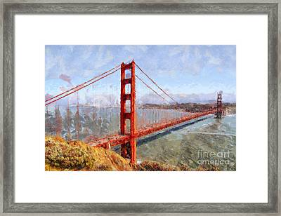 The San Francisco Golden Gate Bridge . 7d14507 Framed Print by Wingsdomain Art and Photography