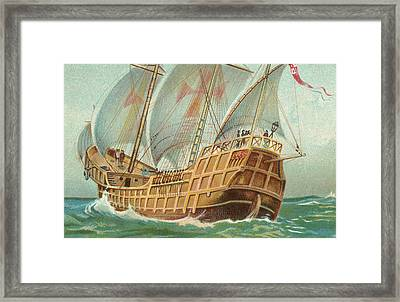 The Santa Maria Framed Print by English School