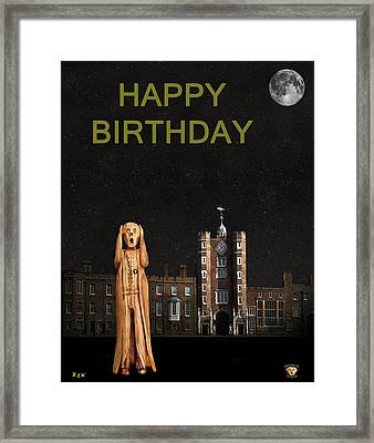 The Scream World Tour St James's Palace Happy Birthday Framed Print