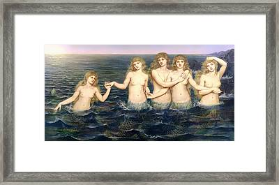The Sea Maidens Framed Print by Mountain Dreams