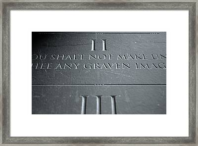 The Second Commandment Framed Print by Allan Swart