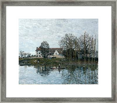 The Seine At Port Marly Framed Print