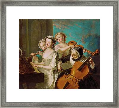 The Sense Of Hearing Framed Print