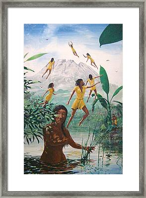 The Seven Angels Of Batur Framed Print by David  Larcom
