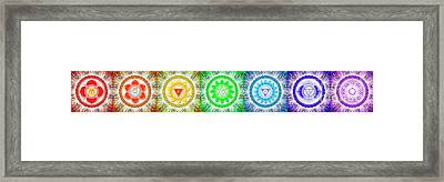 The Seven Chakras - Series 6 Framed Print by Dirk Czarnota