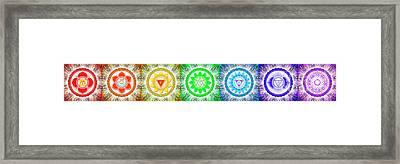The Seven Chakras - Series 6 Framed Print by Dirk Czarnota