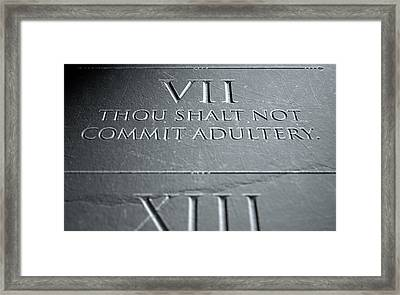 The Seventh Commandment Framed Print by Allan Swart