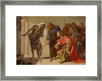 The Shade Of Samuel Invoked By Saul Framed Print