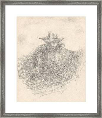 The Shadow Framed Print by T Ezell