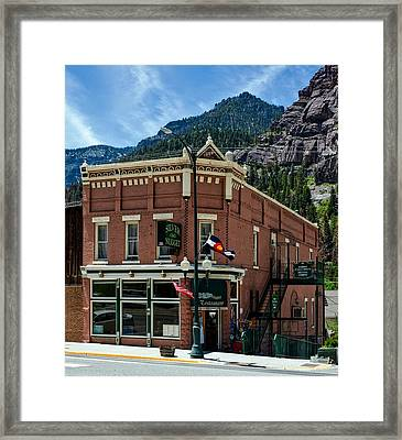 The Silver Nugget Restaurant Framed Print by Mountain Dreams