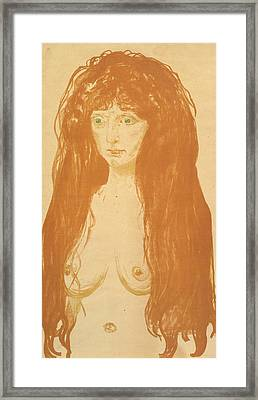 The Sin Framed Print by Edvard Munch