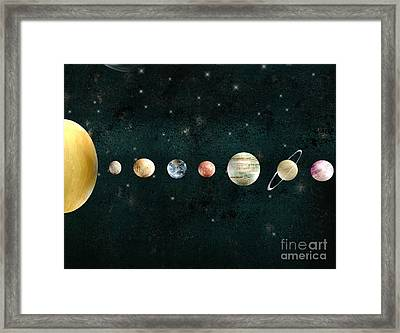 The Solar System Framed Print by Bri B