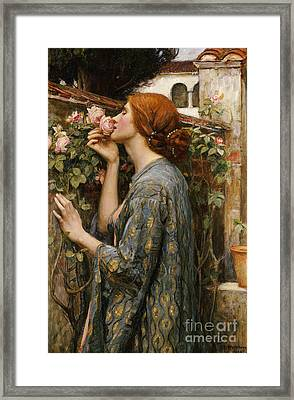 The Soul Of The Rose, 1908 Framed Print by John William Waterhouse