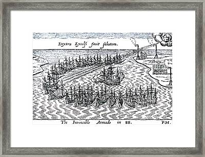 The Spanish Armada Framed Print
