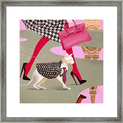 The Sphinx Of Paris Framed Print by Victoria Fomina