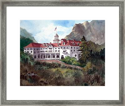 The Stanley Hotel Framed Print by Tina Bohlman