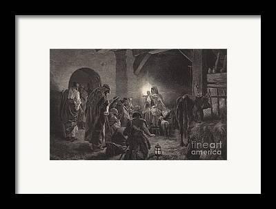 Star Of Bethlehem Drawings Framed Prints
