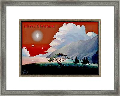 The Star Of Bethlehem Framed Print by Ron Chambers