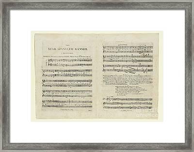 The Star Spangled Banner Framed Print