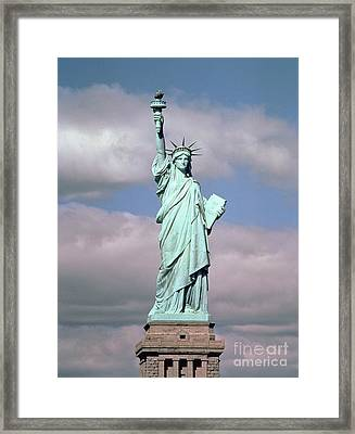 The Statue Of Liberty Framed Print by American School