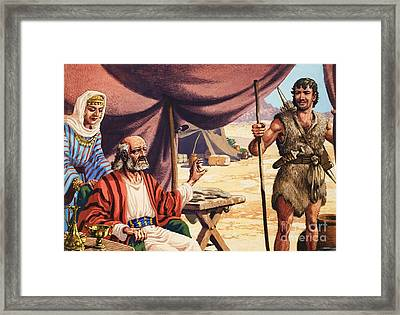 The Story Of Isaac Framed Print by Pat Nicolle