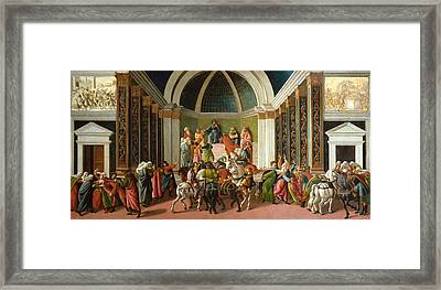 The Story Of Virginia Framed Print by Sandro Botticelli