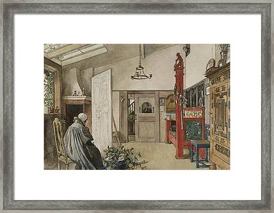 The Studio. From A Home Framed Print